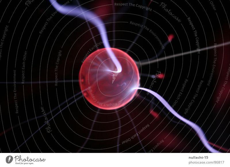 red planet II rot Spielen glänzend Energiewirtschaft Elektrizität Technik & Technologie Fluss Streifen fantastisch Kugel berühren Blitze Weltall obskur