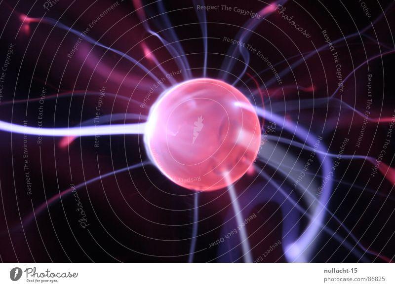 red planet VI rot Spielen glänzend Energiewirtschaft Elektrizität Technik & Technologie Fluss Streifen fantastisch Kugel berühren Blitze Weltall obskur