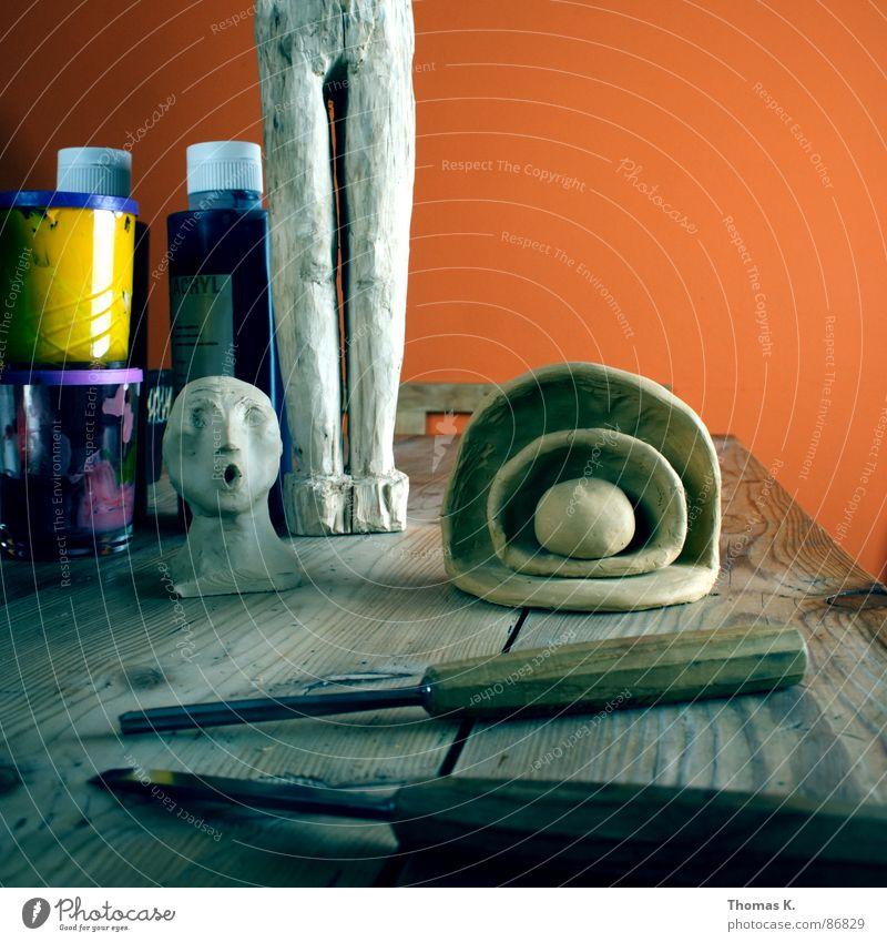 Average Vision of Absentminded Purity schnitzen Kunst Kunsttherapie Werkzeug Handwerk Kunsthandwerk Tisch Holz Medien Material Skulptur Gefühle Glas zeichnen