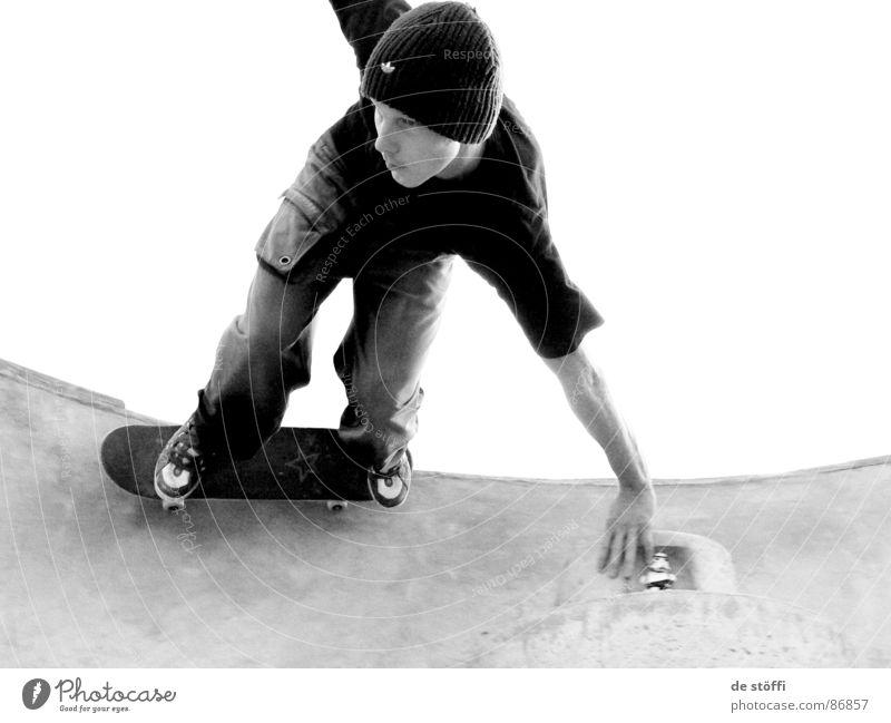 hagen.pool Freude lachen Geschwindigkeit Treppe Aktion fahren Schwimmbad Freizeit & Hobby Skateboarding lecker Mütze Trick fluffig Hagen