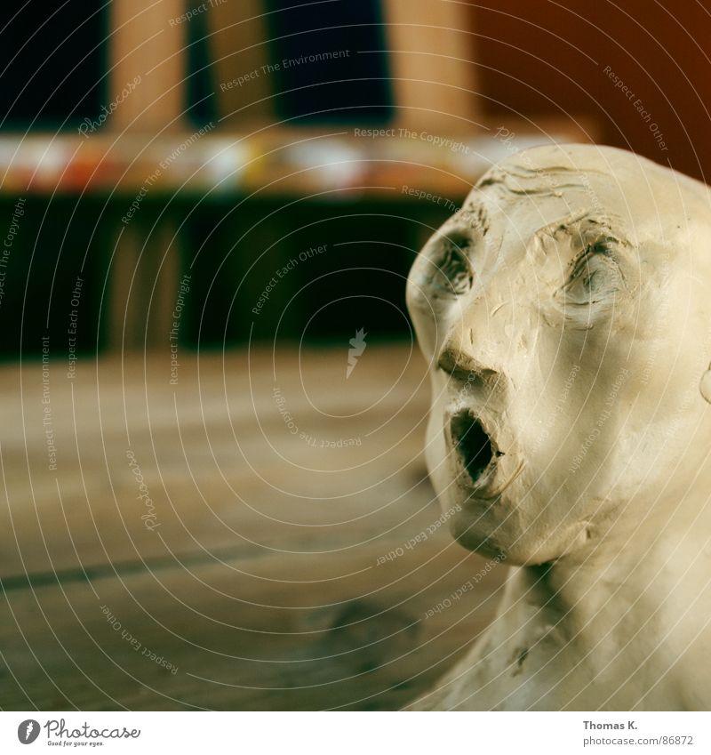 Metamorphosis Kunst Kunsttherapie Handwerk Kunsthandwerk Tisch Holz Medien Material Skulptur Gefühle Glas zeichnen Maserung Streifen Kommunikationsmittel Büste