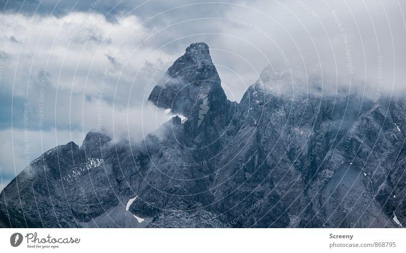 Hammerspitze Natur Landschaft Himmel Wolken Sommer Wetter Felsen Alpen Berge u. Gebirge Allgäu Allgäuer Alpen Gipfel gigantisch groß Spitze Kraft geduldig ruhig