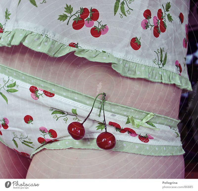 kirschwasser Kirsche Frau Spielen Frucht Körper Bauch Beine