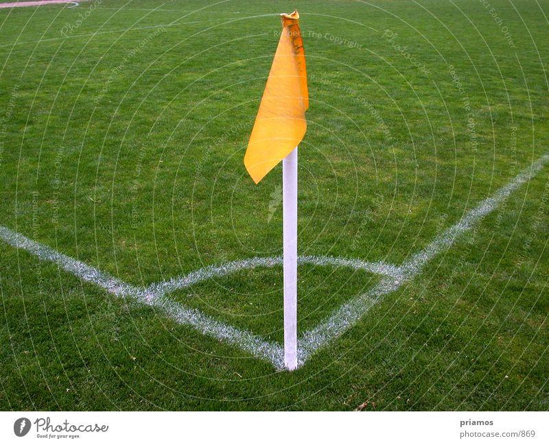 Eckfahne Spielfeld Eckstoß Weltmeisterschaft Sport Fußball eckfahne Linie Rasen