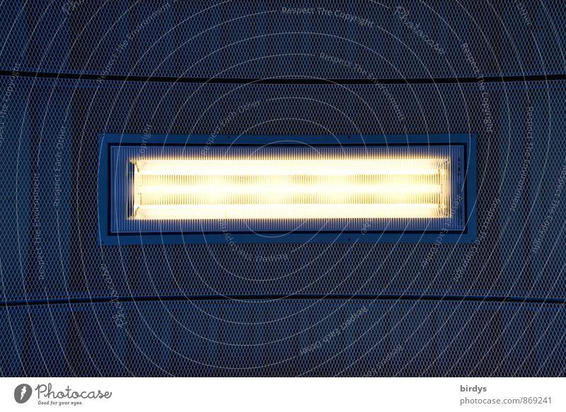Leuchtstoff Leuchtstoffröhre Beleuchtungselement Deckenlampe leuchten ästhetisch Design modern Lampe graphisch Linie Muster 1 Neonlampe Zentralperspektive