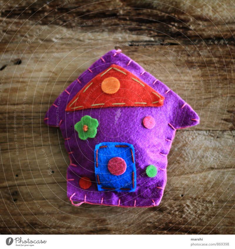 Traumhaus Stil Glück Freizeit & Hobby Häusliches Leben Wohnung Haus Hausbau Umzug (Wohnungswechsel) Zeichen Gefühle Filz Basteln Holztisch Farbfoto
