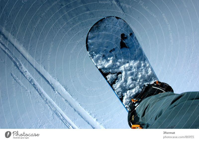 lift Ferien & Urlaub & Reisen Winter Berge u. Gebirge Schnee Sport Spielen Beine Freizeit & Hobby Spuren Snowboard Wintersport wegfahren Abdruck Fahrer