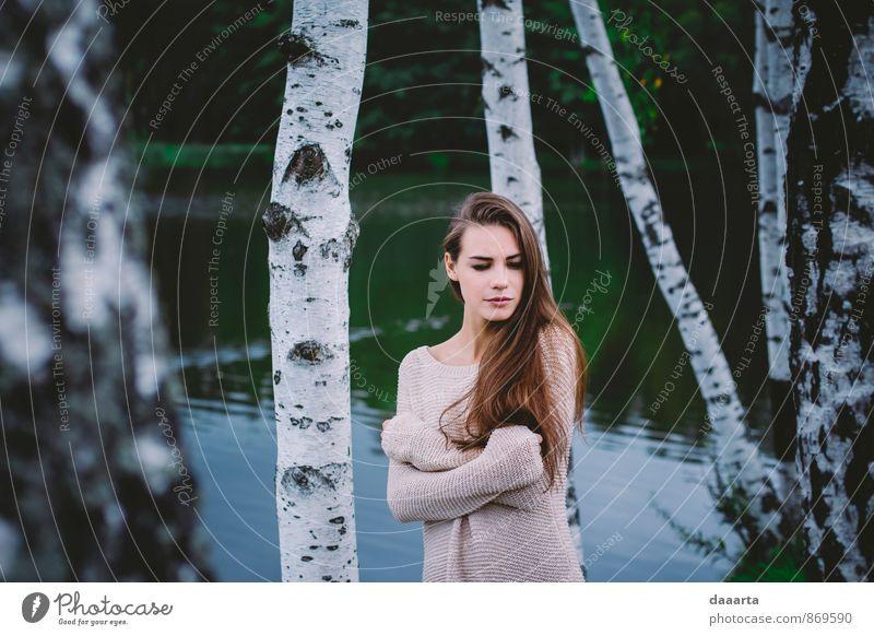 Natur schön Wasser Baum Erholung Landschaft Freude Leben Herbst feminin Stil Denken hell Freizeit & Hobby Lifestyle elegant