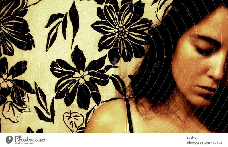 no te necesito Frau Pflanze feminin Haare & Frisuren Traurigkeit Denken kaputt Trauer Bad Maske Konzentration Müdigkeit Verzweiflung Zerstörung Schal Identität