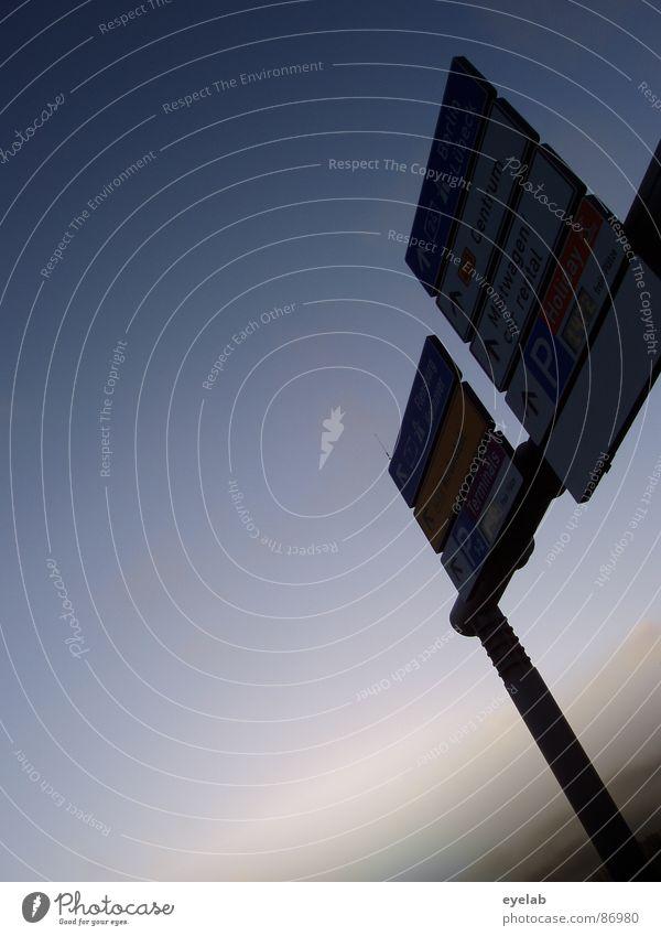 Früh gesehn, spät beleuchtet ! vergangen Langzeitparken Glasbaustein Illumination Schilder & Markierungen Verkehrszeichen Autobahn Bundesstraße Dachüberhang