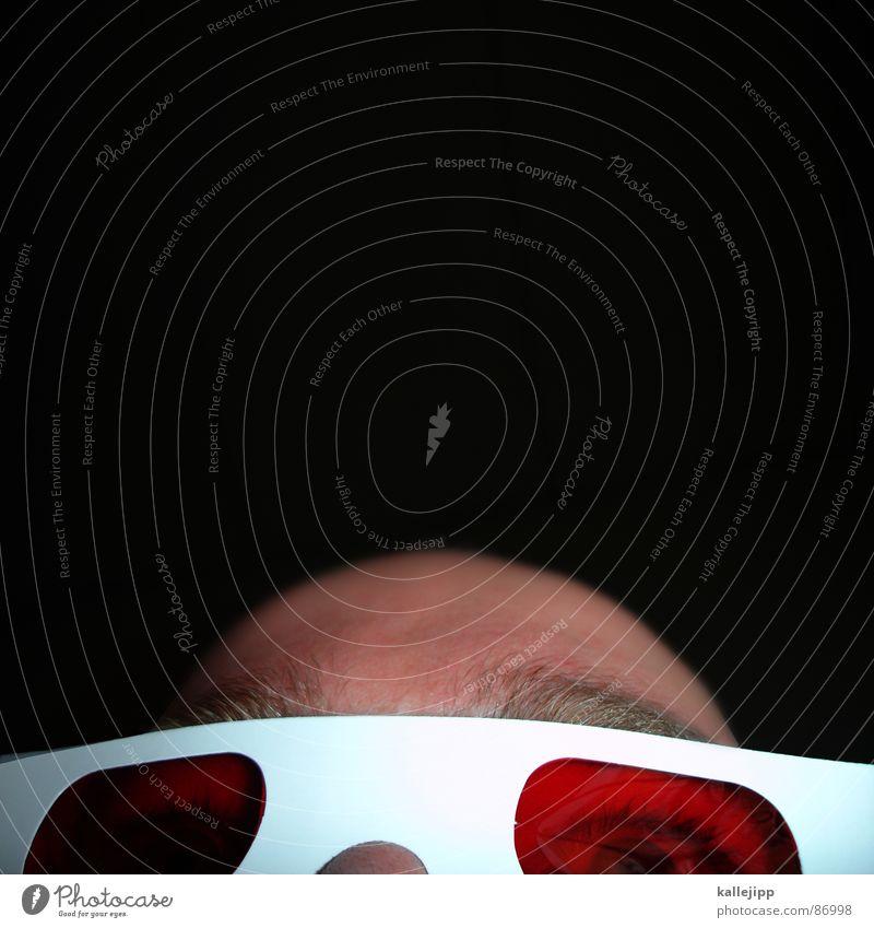 3D martin Mensch rot Freude Auge Tod Haare & Frisuren grau Kopf gold Nase schlafen Brille Lippen trashig Humor wirklich