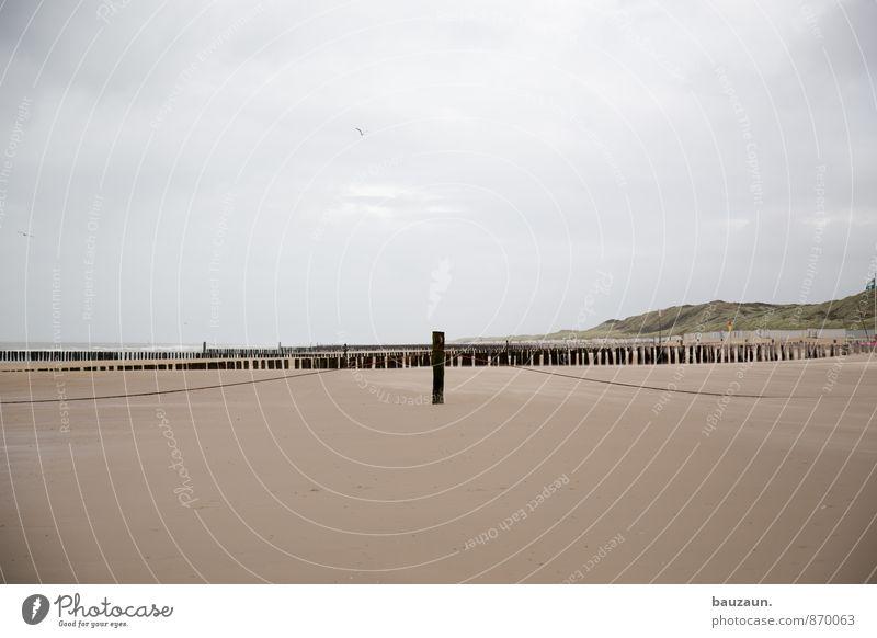 fern. Leben Zufriedenheit Sinnesorgane Erholung ruhig Ferien & Urlaub & Reisen Tourismus Ausflug Sommer Strand Meer Wellen Umwelt Natur Himmel Wolken Klima