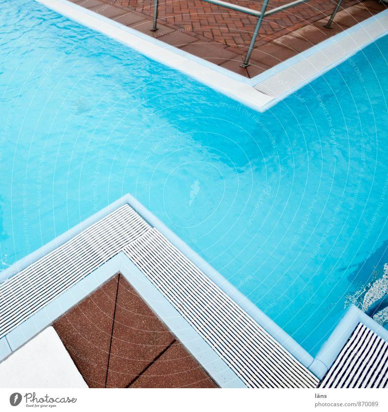 Seepferdchen l zickzack Schwimmen & Baden Ferien & Urlaub & Reisen Tourismus Ausflug Schwimmbad Sport blau Beginn Ende Beckenrand türkis eckig Zickzack Muster