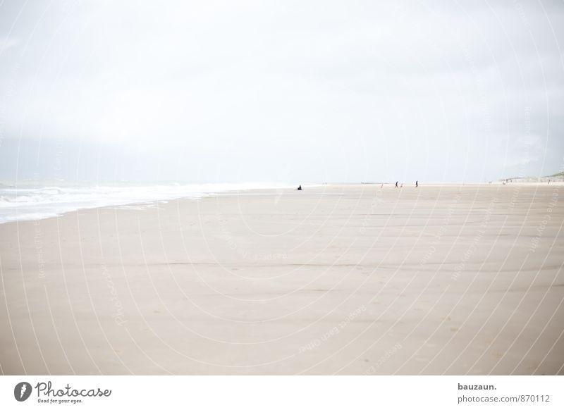 . Mensch Natur Ferien & Urlaub & Reisen Meer Einsamkeit Erholung Landschaft ruhig Strand Ferne Gefühle Küste Freiheit gehen Wetter Wellen