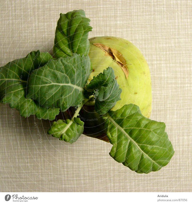 kohlrabi no.3 grün Ernährung Leben Gesundheit Tisch rund Küche Gemüse Vegetarische Ernährung pflanzlich Kohlrabi