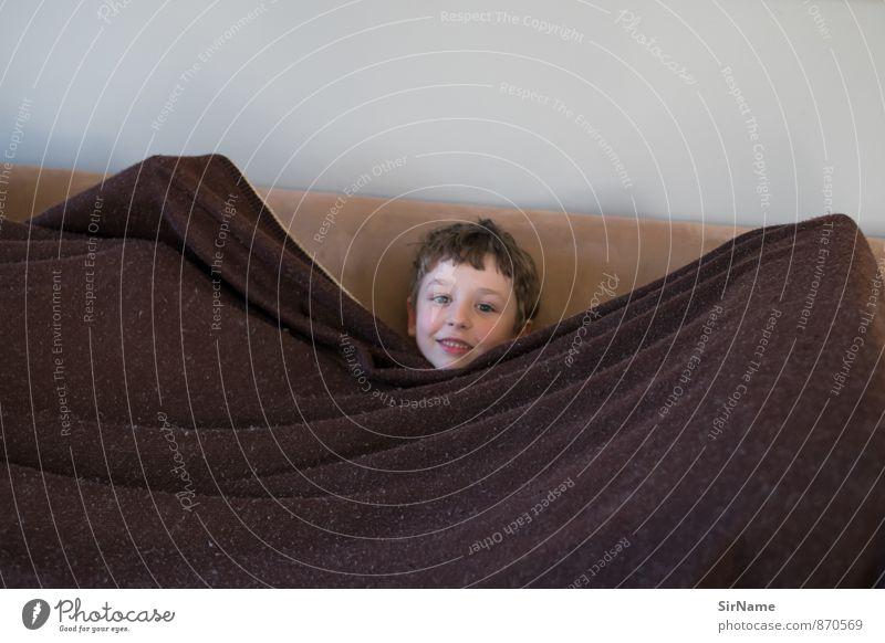 270 [Stoffschlossbewohner] Mensch Kind Freude Gesicht Junge lustig natürlich Spielen Zusammensein Häusliches Leben Kindheit authentisch Lächeln einfach weich