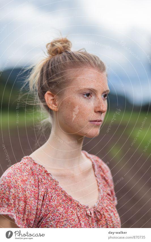 Anna V Mensch feminin Junge Frau Jugendliche 1 Haare & Frisuren rothaarig Zopf ästhetisch authentisch nah dünn schön blau braun grün selbstbewußt Farbfoto