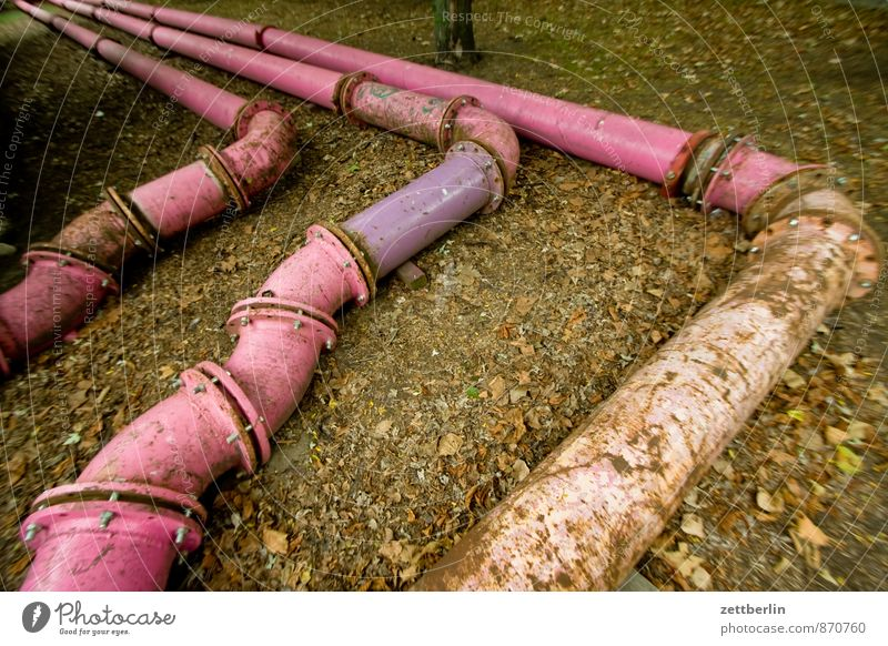 Pink Tube Röhren Eisenrohr tube Leitung Rohrleitung Wasserrohr Installateur Güterverkehr & Logistik Abwasser entwässern Bewässerung Baustelle 3 Flansch Ecke