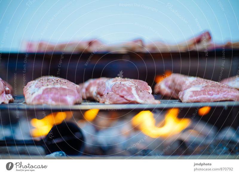 GRILL vorher Lebensmittel Fleisch Abendessen Picknick Bioprodukte Slowfood Freude Gesunde Ernährung Übergewicht Freizeit & Hobby Freiheit Camping Garten