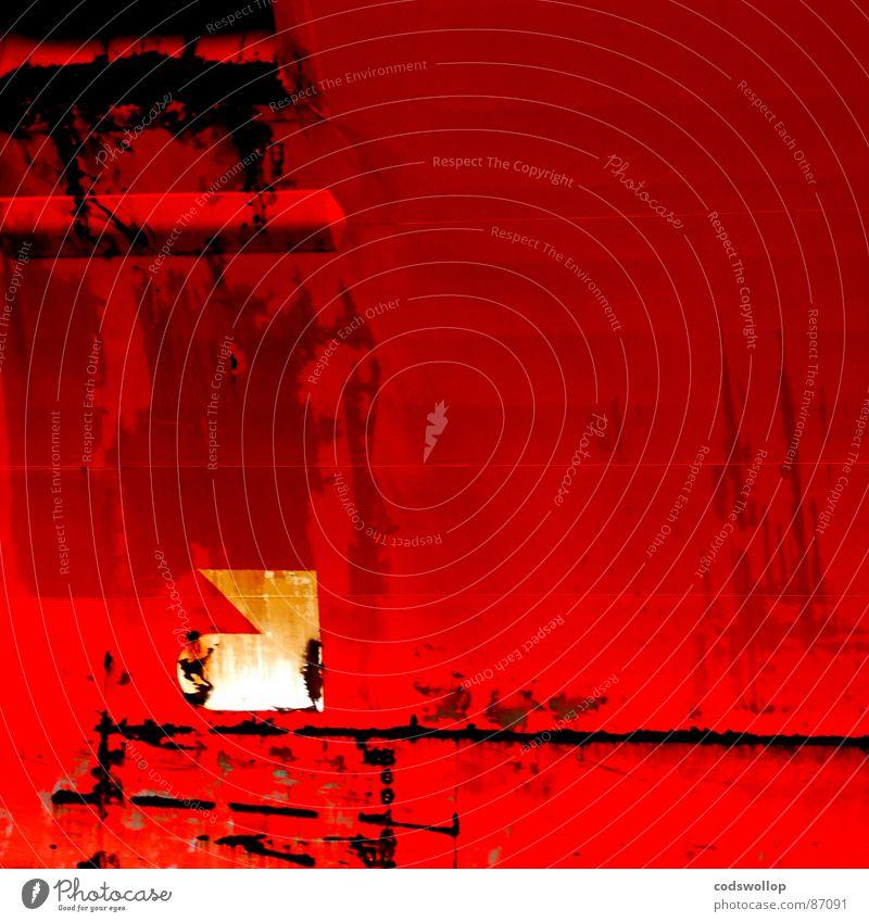 bug rot Wasserfahrzeug Industrie Hafen vorwärts Grafik u. Illustration Schifffahrt Logo Schiffsbug Vorderseite Rust gekratzt Wasserlinie