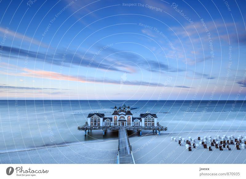 Sellin Tourismus Insel Himmel Wolken Schönes Wetter Wellen Strand Ostsee Haus Seebrücke Sehenswürdigkeit schön blau orange schwarz weiß ruhig Freizeit & Hobby