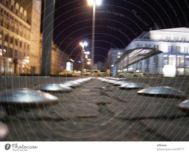 Augustusplatz Platz Nacht Lampe Architektur Eisenknuppel