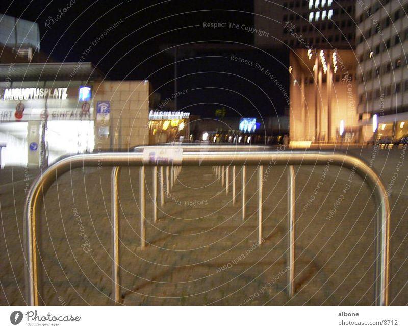 Fahrradständer Eisen Nacht Stadtzentrum Dinge