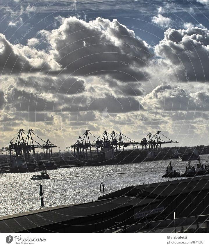 ich mag den hafen Hamburg Industrie Hafen Anlegestelle Schifffahrt Elbe Dock Wasserstraße