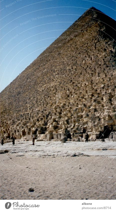 Pyramide Gebäude Architektur historisch Ägypten Afrika Sandstein Kairo