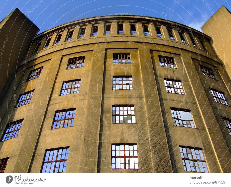 Gasometer Himmel Fenster Industrie Dresden