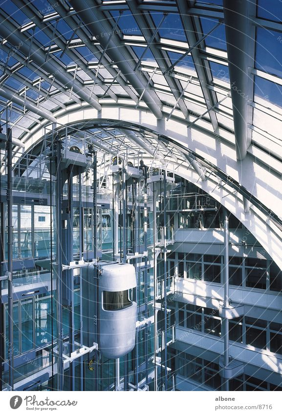 Lift Himmel Haus Graffiti Architektur Glas Fahrstuhl
