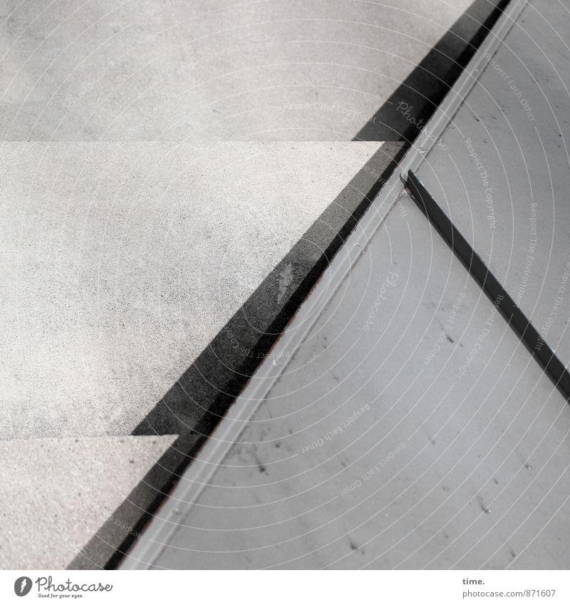 Boden-Mathe II Stadt Architektur Wege & Pfade Stein Linie Metall Treppe Design ästhetisch Ecke Beton Bauwerk Dienstleistungsgewerbe