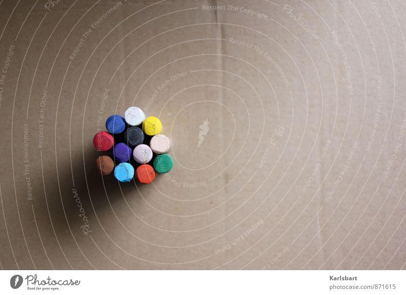 Freiraum. Farbe Kunst Horizont Schule Freizeit & Hobby Lifestyle Häusliches Leben Büro Design Beginn Kreativität lernen Idee Papier einzigartig Bildung