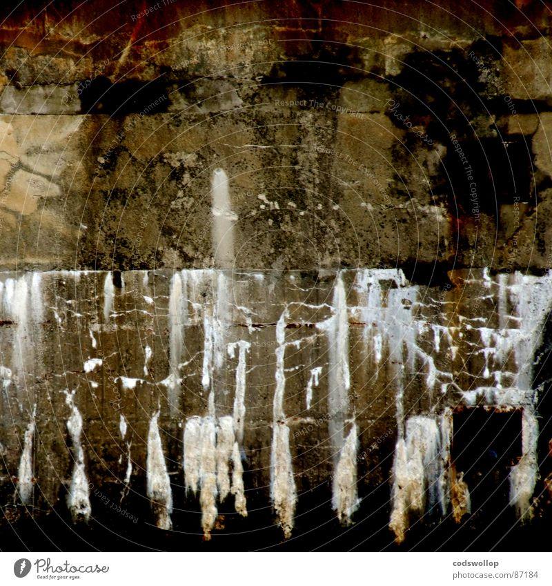 verfallsgeschwindigkeit 0 Mauer Häusliches Leben Spuren Vergänglichkeit gemalt Bruchstelle