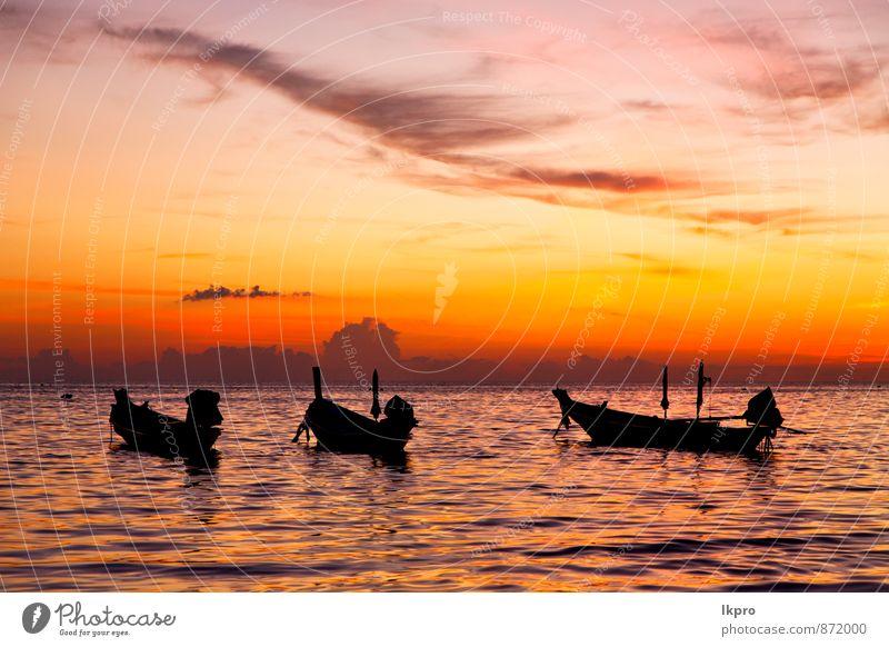 Himmel Natur Ferien & Urlaub & Reisen Farbe Sonne Meer Erholung rot Wolken Strand Berge u. Gebirge Gefühle Küste Sport Freiheit Schwimmen & Baden