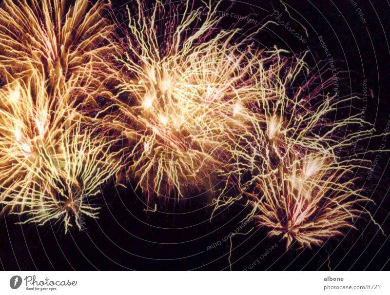 Feuerwerk orange Party Club Explosion