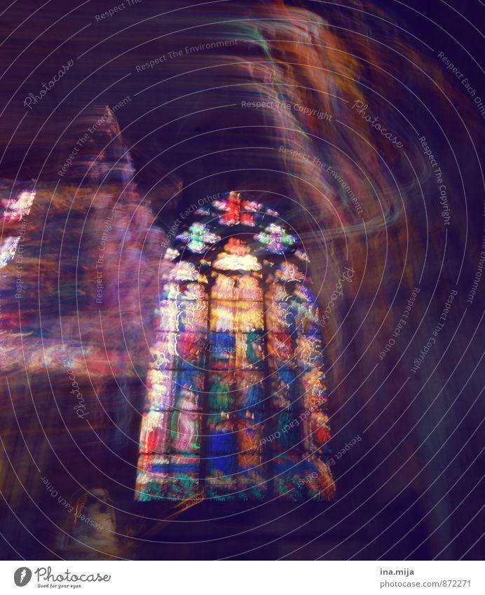 mystisches Geschehen Kultur Kirche Dom Architektur Fenster Glas außergewöhnlich dunkel fantastisch gruselig historisch Güte Hoffnung Glaube träumen Traurigkeit