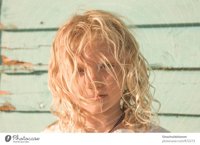 Sommer im Herzen Mensch Kind schön Sonne Mädchen Gesicht Leben Gefühle natürlich Haare & Frisuren hell Stimmung blond Kindheit ästhetisch