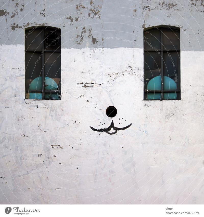Fakelook Stadt Fenster Wand Graffiti lustig Mauer Kunst Fassade Zufriedenheit Perspektive verrückt beobachten Kreativität Vergänglichkeit Neugier Gemälde