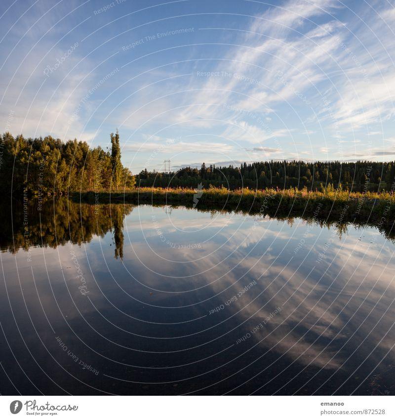schwedische Seen! Himmel Natur Ferien & Urlaub & Reisen blau Pflanze Wasser Sommer Baum Landschaft Wolken Ferne Wald Küste Schwimmen & Baden Freiheit