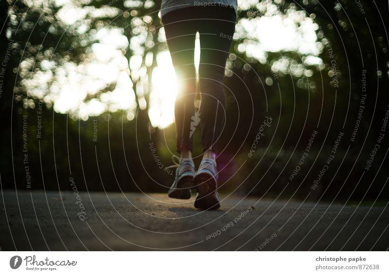 Keep on running Lifestyle sportlich Fitness Freizeit & Hobby Sport Sport-Training Sportler Joggen feminin Beine Fuß 1 Mensch Park Bekleidung Turnschuh Bewegung