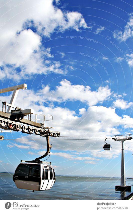 Nächster Ausstieg: HIMMEL Meer Portugal Seilbahn Wolken Wahrzeichen Denkmal Wasser EXPO 1998 Himmel Gondellift Wolkenhimmel Weltausstellung Attraktion