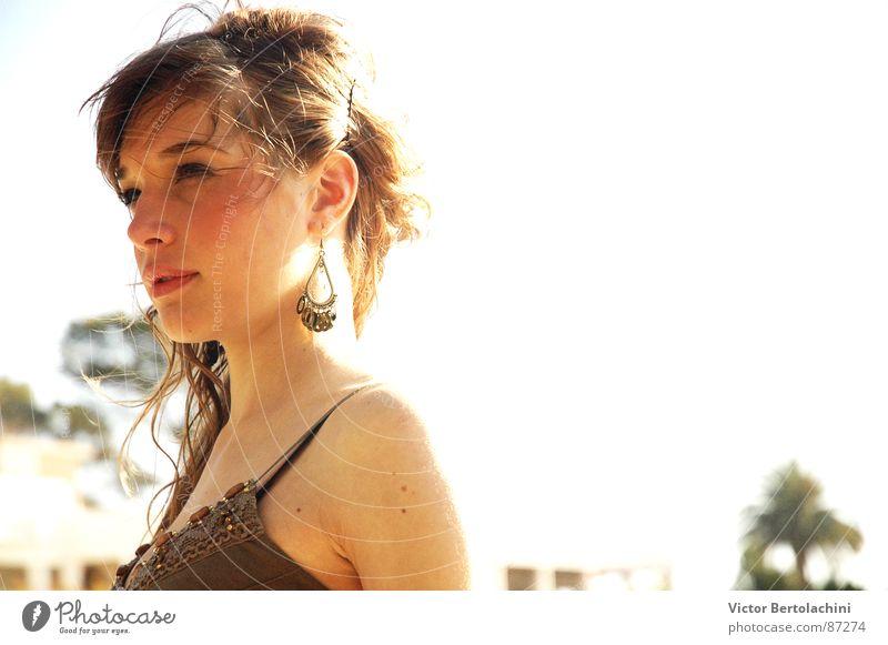 Leve Mensch Frau Natur Jugendliche Sommer Gesicht Haare & Frisuren Mode hell elegant Haut Ohr Dame Ohrringe