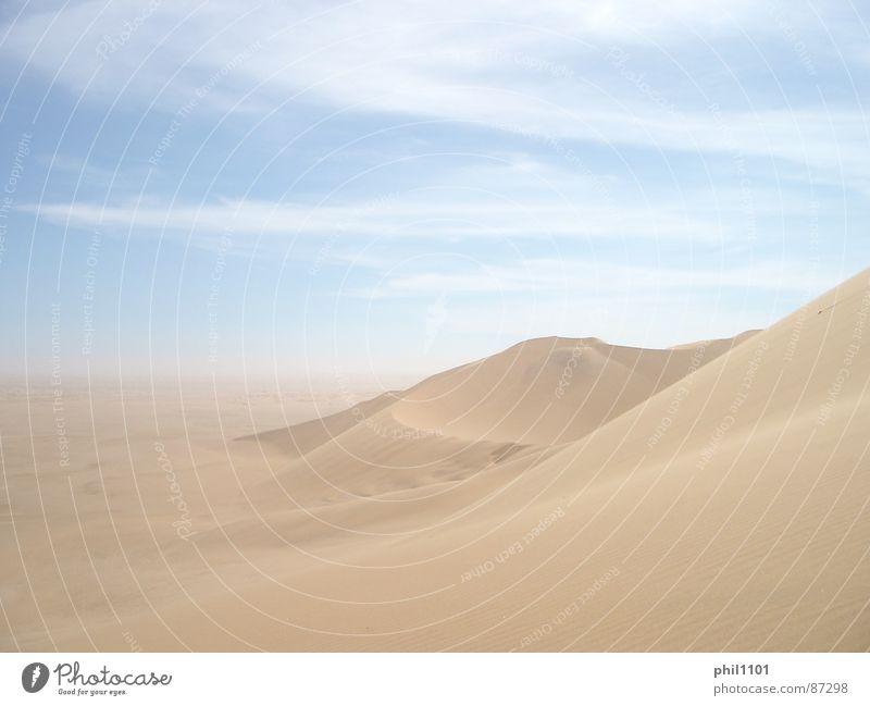 Namibia Wüste Sommer Afrika beige Stranddüne Sonne sonnennähe