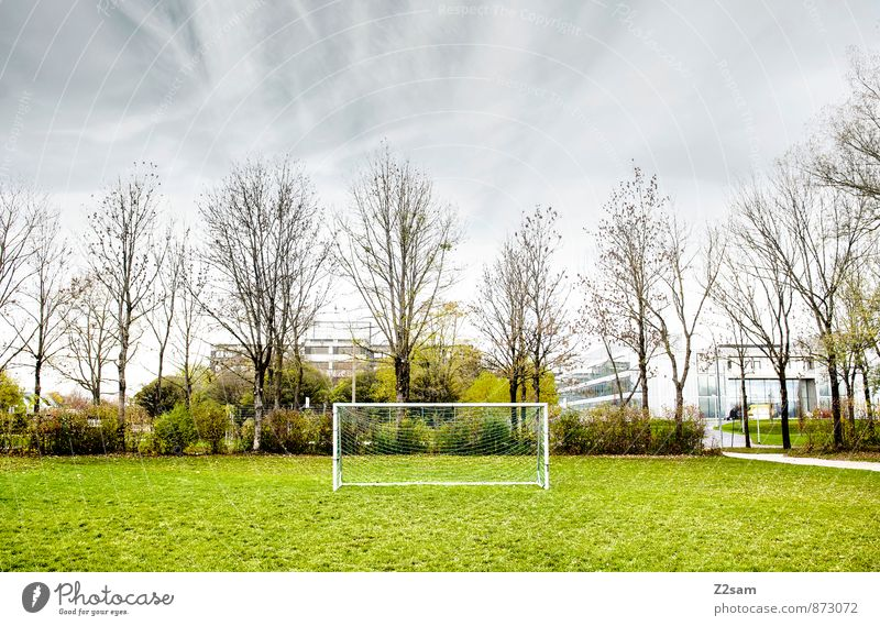 SPIEL R A U M Freizeit & Hobby Spielen Sommer Sport Sportstätten Fußballplatz Natur Himmel Wolken Herbst Baum Gras Sträucher Wiese Kleinstadt Stadt Gesundheit