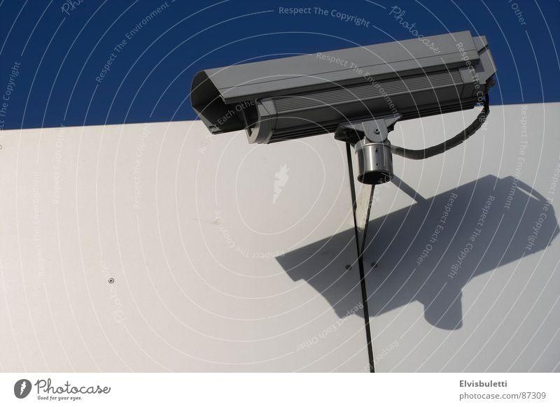 0815 Einheitsstaat (ex Foto Nr. 23) Überwachungskamera beobachten Kontrolle Überwachungsgerät überwachen Überwachungsstaat Öffentlicher Dienst