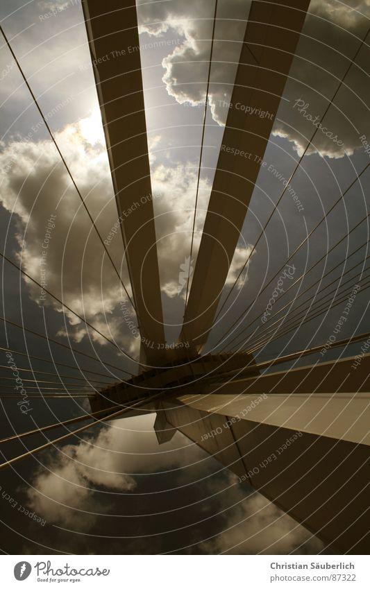 THE DARK SIDE Wolken Schnellstraße Speedway Rennen Ludwigshafen Brücke Himmel Pylon