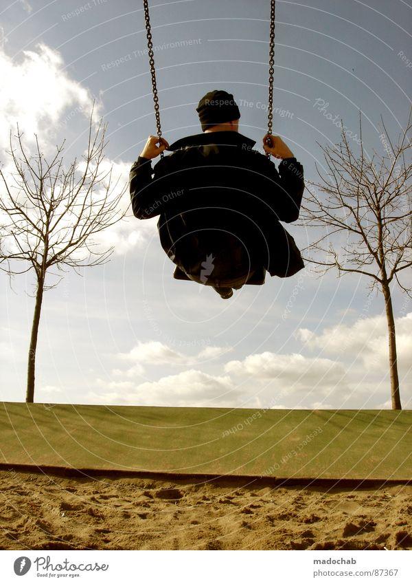 HIMMELSSTÜRMER Mensch Himmel Freude Wolken Einsamkeit Arbeit & Erwerbstätigkeit sitzen maskulin Flügel einzigartig fahren einzeln Spielzeug Mütze genießen