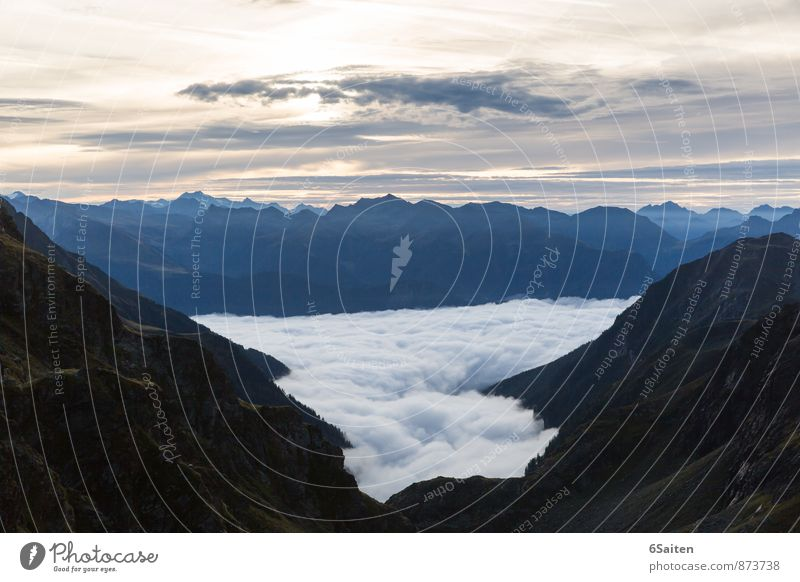 tosende Stille wandern Umwelt Natur Landschaft Urelemente Luft Wasser Himmel Wolken Horizont Sonnenaufgang Sonnenuntergang Sonnenlicht Sommer Klima Wetter