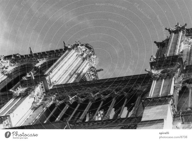 Notre Dame Paris Frankreich Himmel Architektur Notre-Dame Turm Religion & Glaube Dom Cathedral Kathedrale France sky